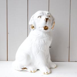 Vintage beeld hond goud