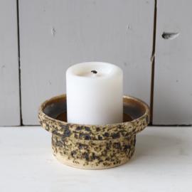 Vintage keramiek steekstuk pot kandelaar