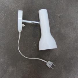 Vintage wandlamp wit