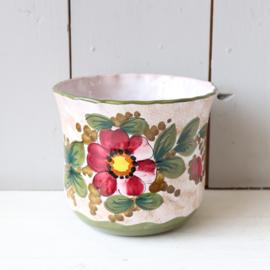 Vintage bloempot bloemen