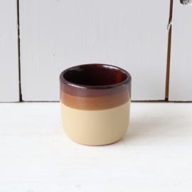 Vintage mini potje bruin