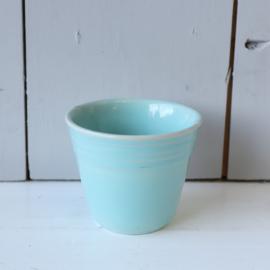 vintage klein bloempotje blauw