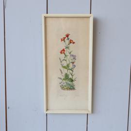 Vintage bloemen schilderij