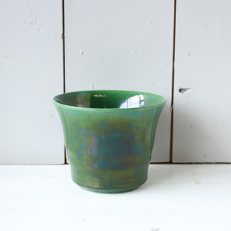 Vintage bloempot groen