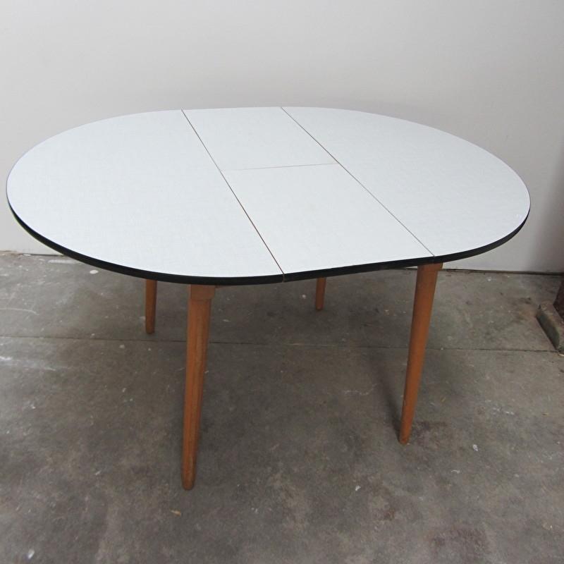 Formica Tafel Uitschuifbaar.Vintage Eettafel Formica Rond Verkocht Meutt Vintage