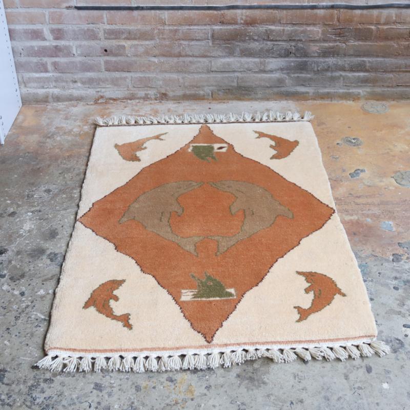 Vintage tapijt 125 x80 wol