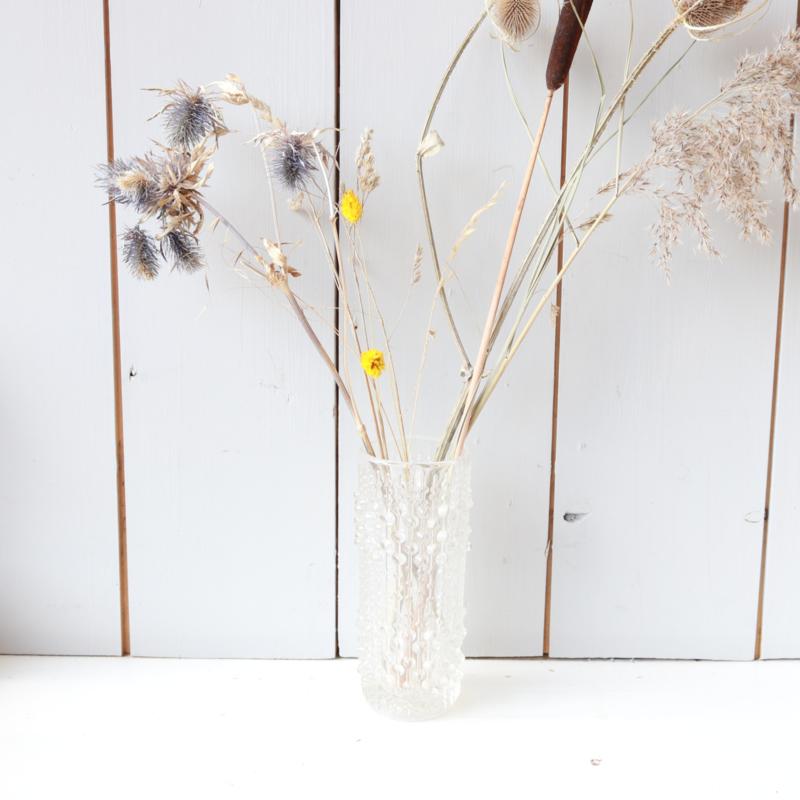 Vintage 'candlewax' druppel vaas