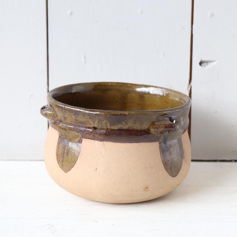 Vintage bloempot hangpot groen