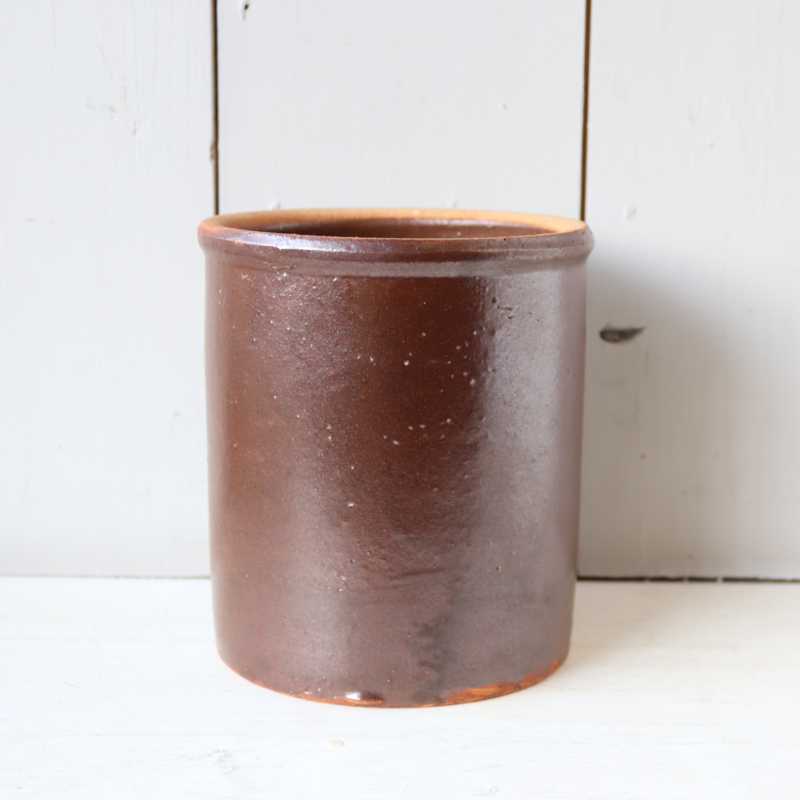 Vintage pot voor pollepels