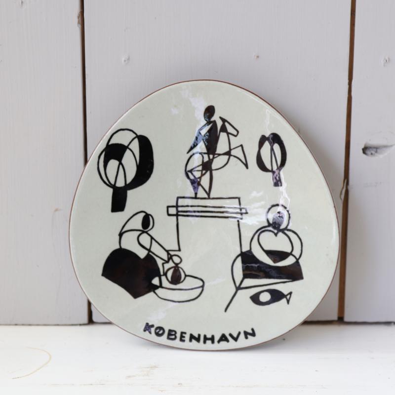 Deens schaal wandbord