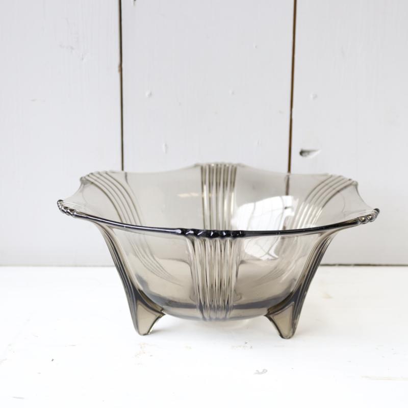Vintage schaal rookglas