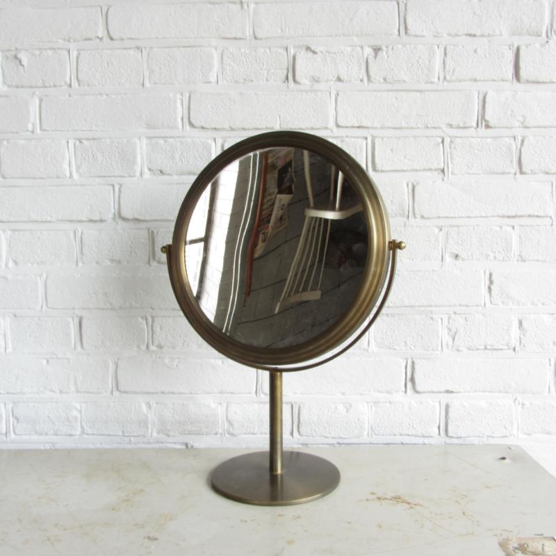 Vintage messing make-up spiegel