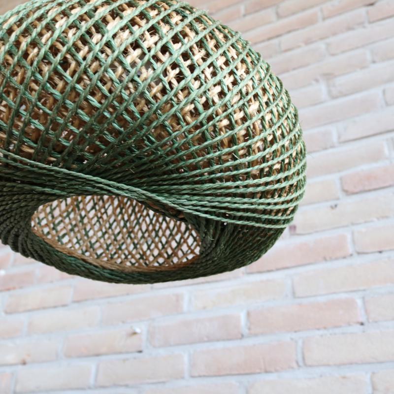 Vintage lamp touw bol