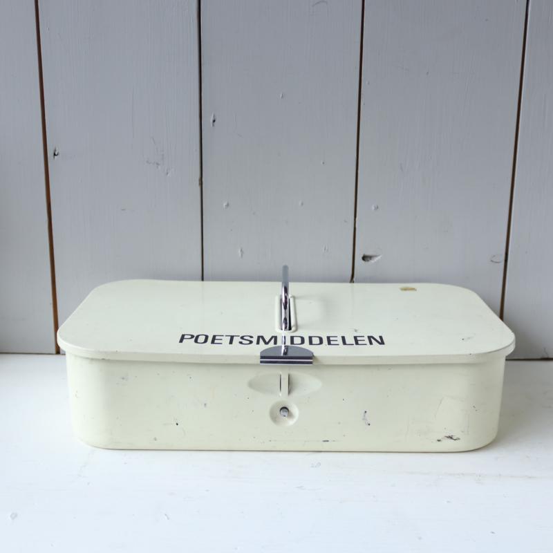 Poetsmiddelen vintage doos