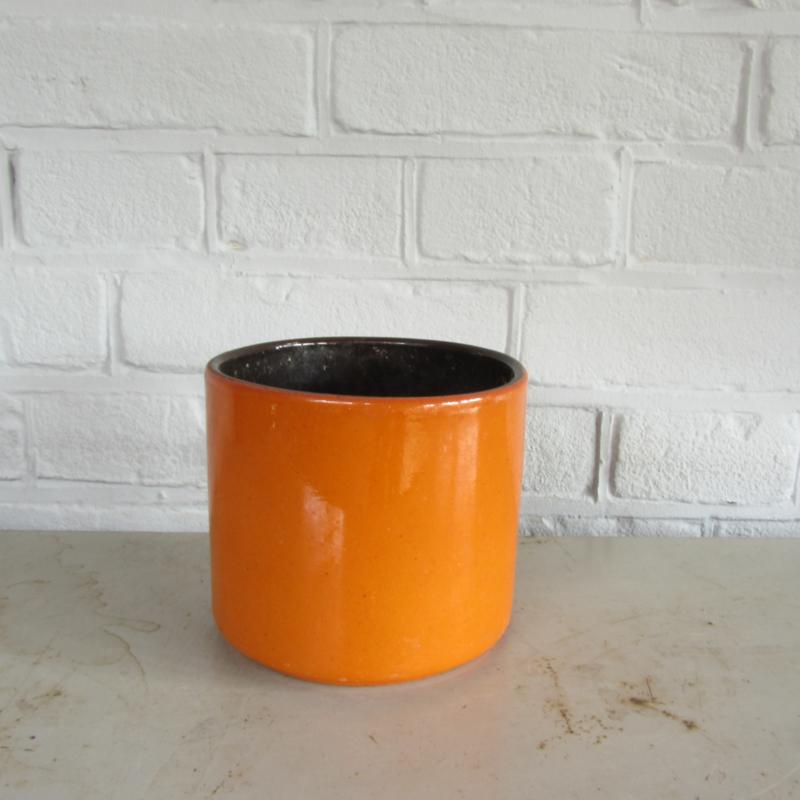 vintage bloempot oranje