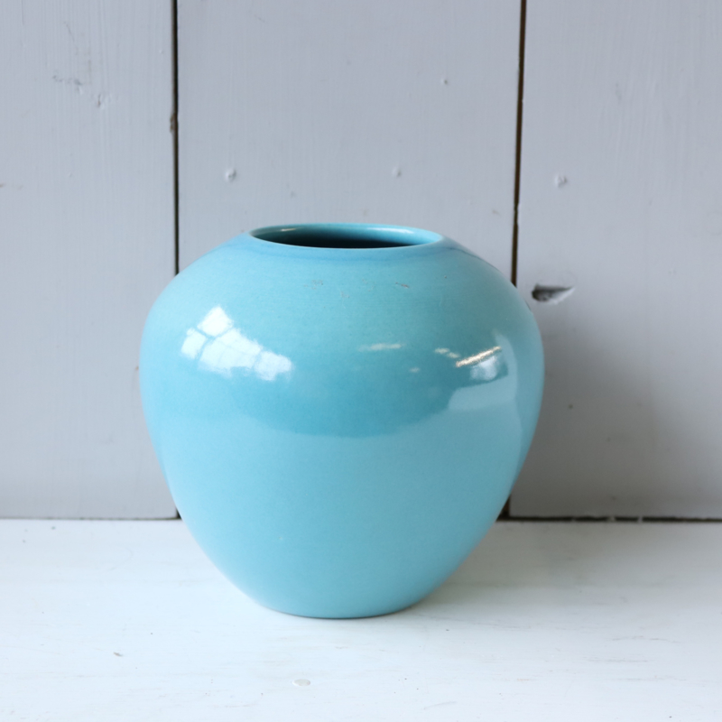 Vintage turquoise vaas