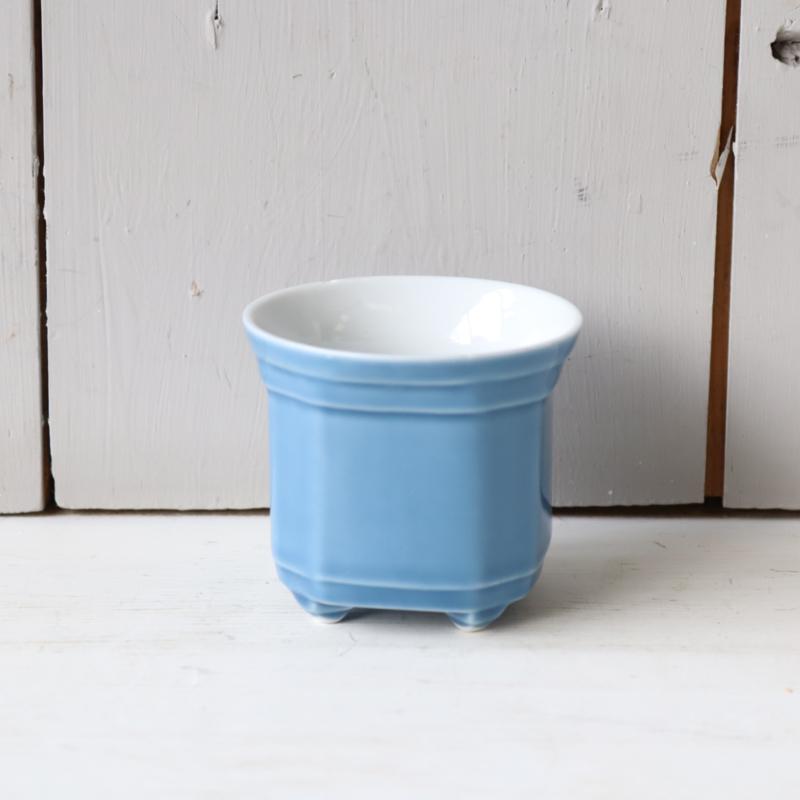 Vintage mini potje blauw
