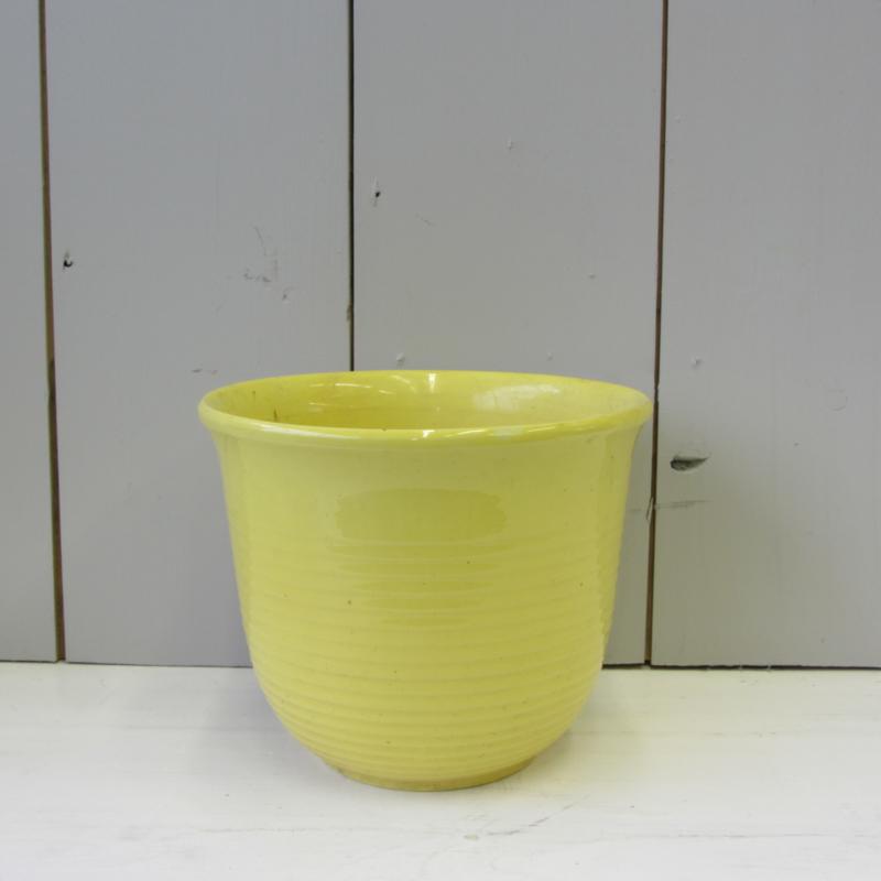 Vintage bloempot geel