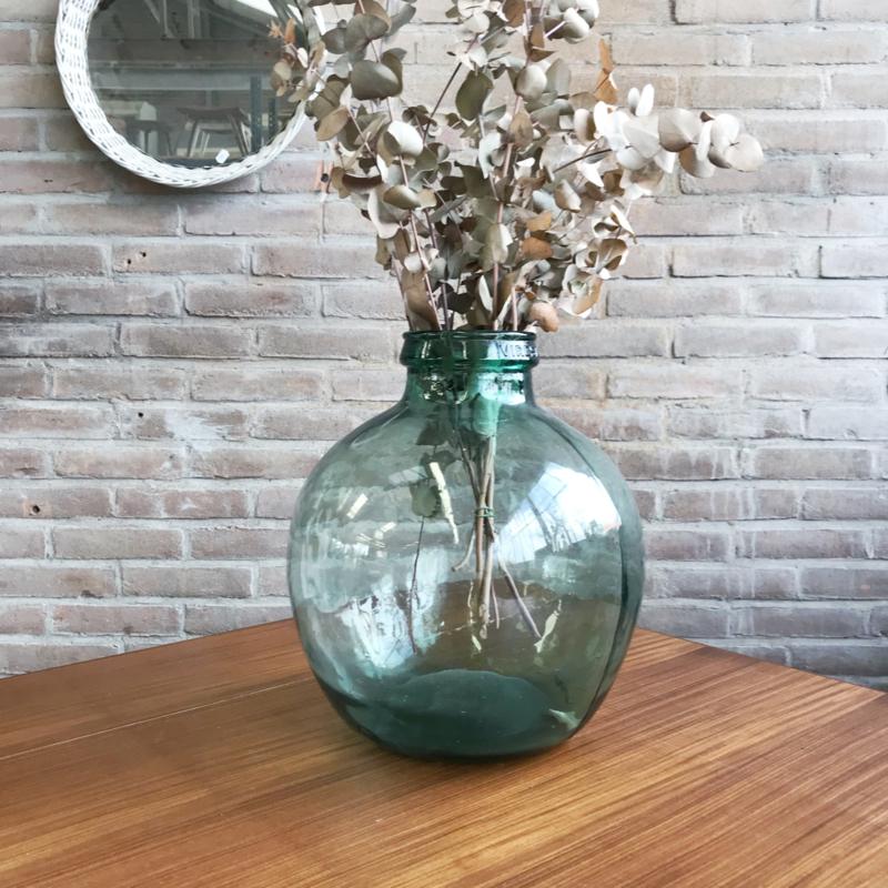 Grote Vaas Glas.Vintage Glazen Vaas Groot Potten Vazen Meutt Vintage
