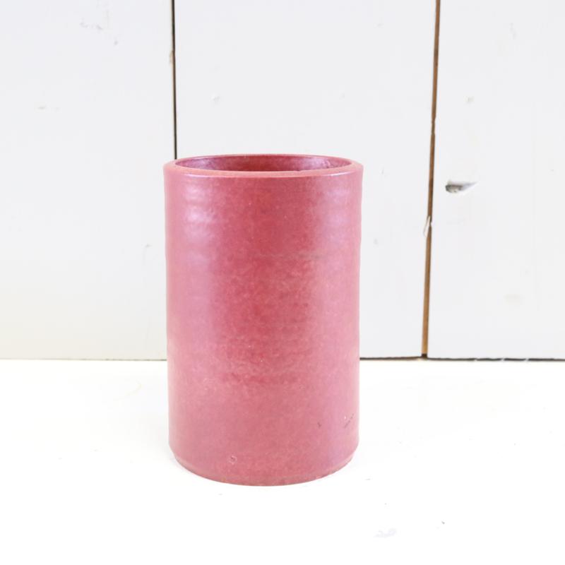 vintage vaas bordeaux rood