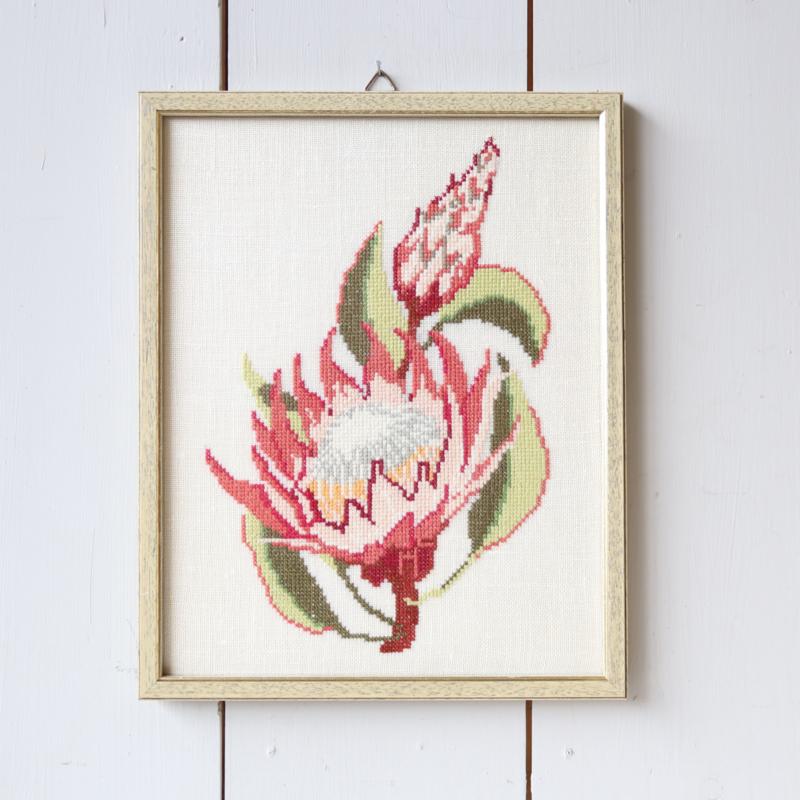 Vintage borduurwerk bloem