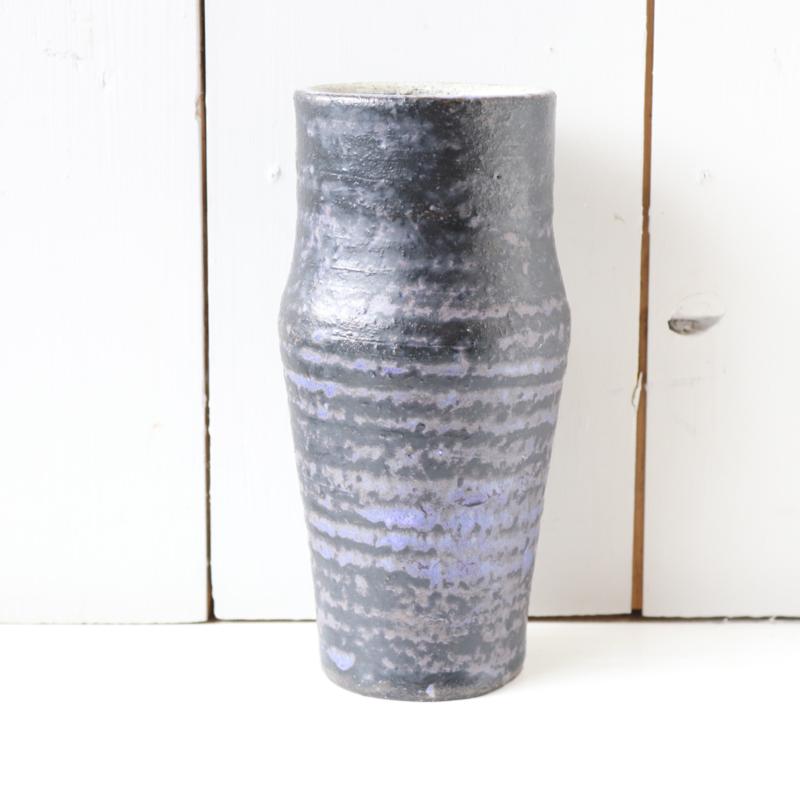 Vintage vaas paars zwart