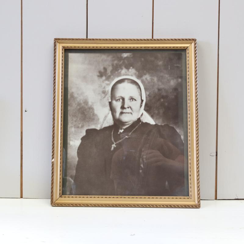 Vintage portret foto zwart wit
