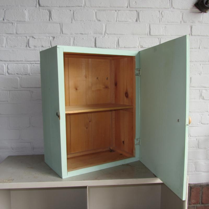 Oud Wandkastje Mint Groen Kasten Meutt Vintage