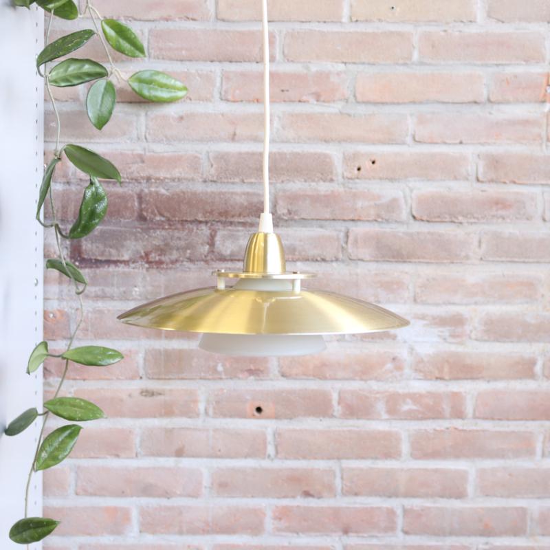 Vintage hanglamp goud