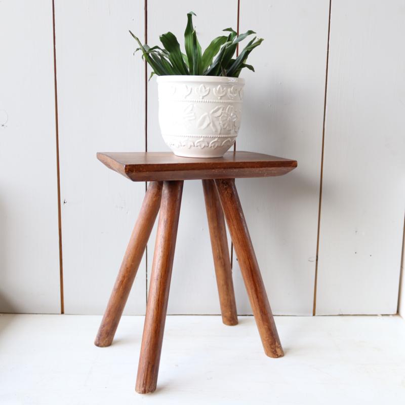 Vintage plantentafeltje hout