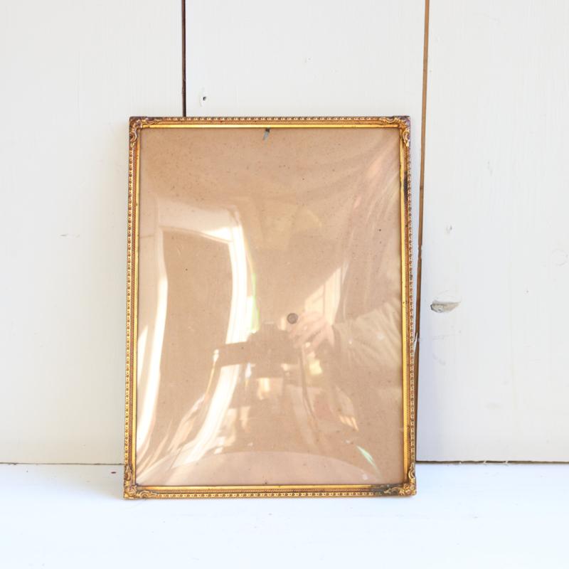Vintage fotolijst goud bol glas