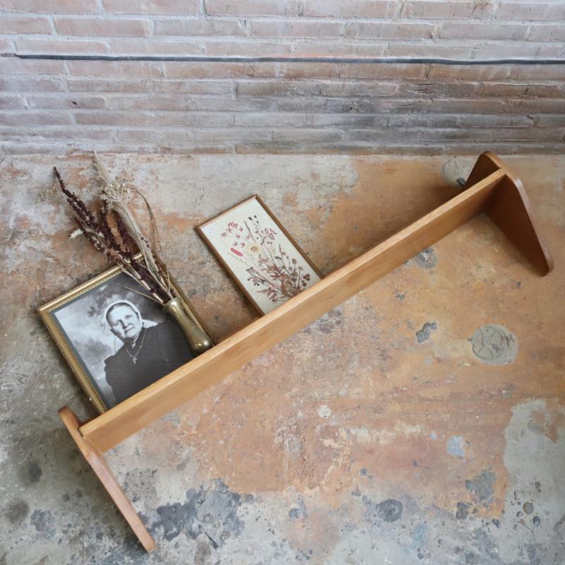 Vintage wandplank hout groot