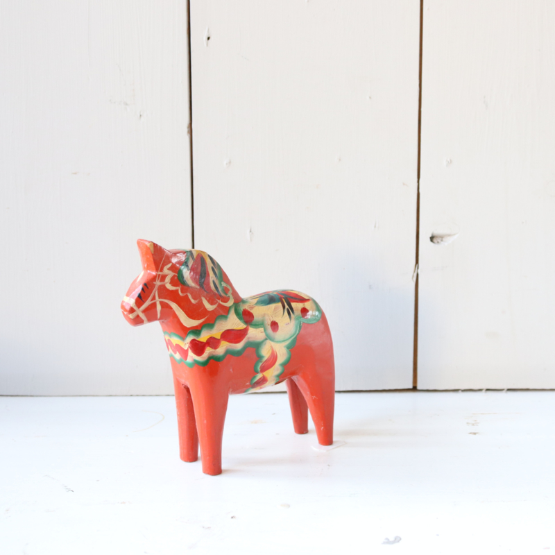 Vintage dalarna paard rood nils olsson