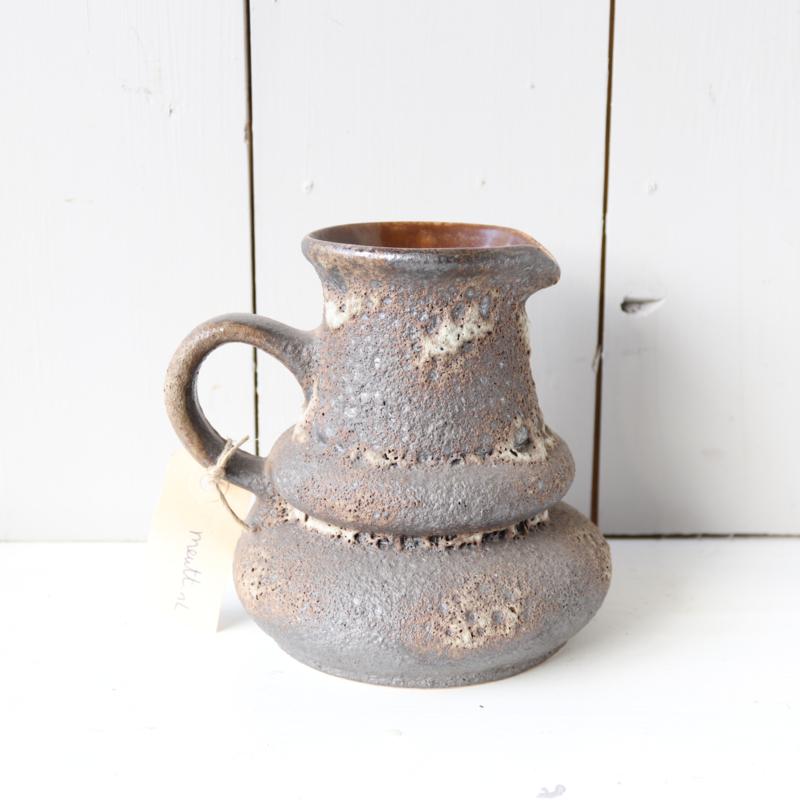 Vintage vaas kan bruin lava