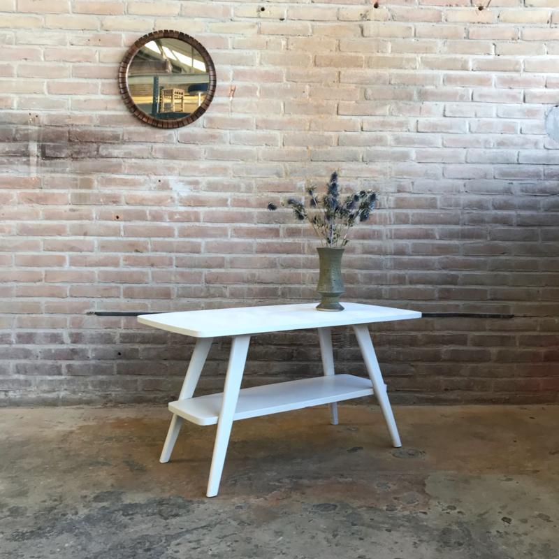 Vintage salontafel wit jaren 60