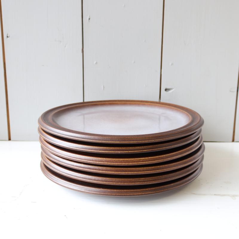 set 6 vintage diner borden jaren 70