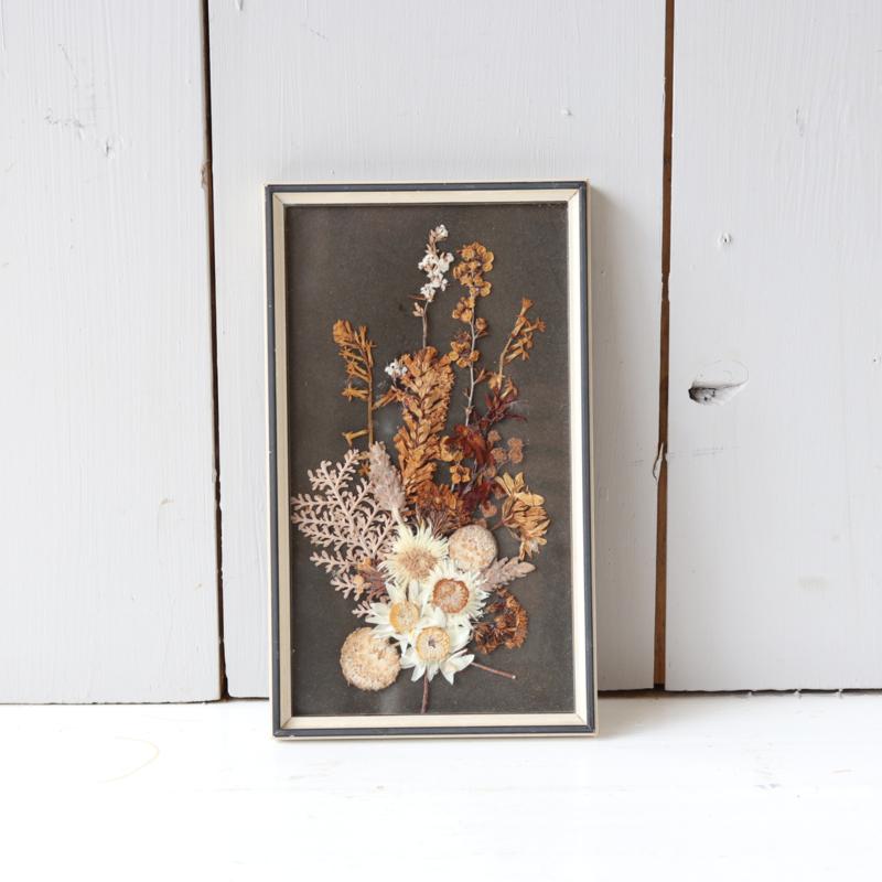 Vintage lijst droogbloemen