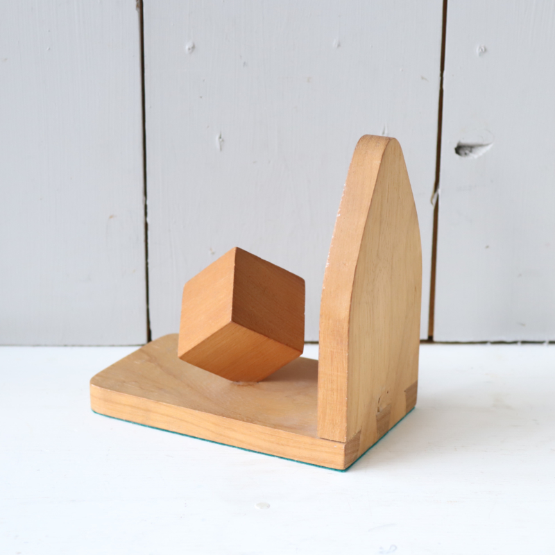 Vintage boekensteun hout