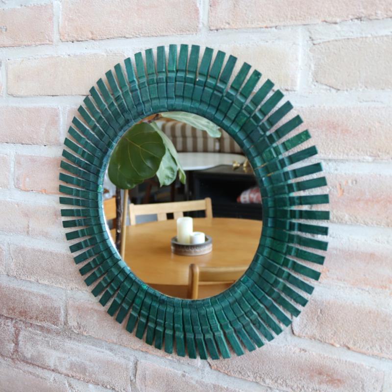Vintage spiegel groen