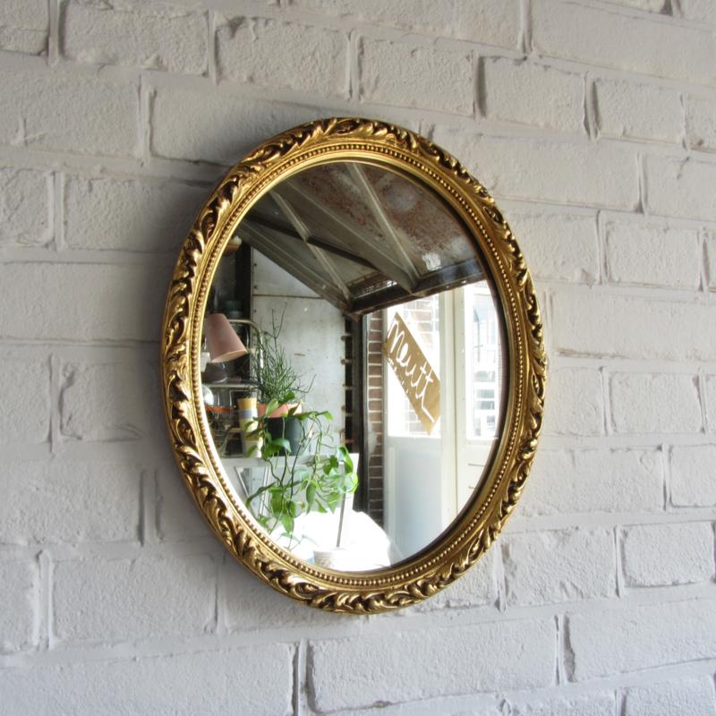 Gouden Spiegel Ovaal.Vintage Spiegel Ovaal Spiegels Meutt Vintage Interior