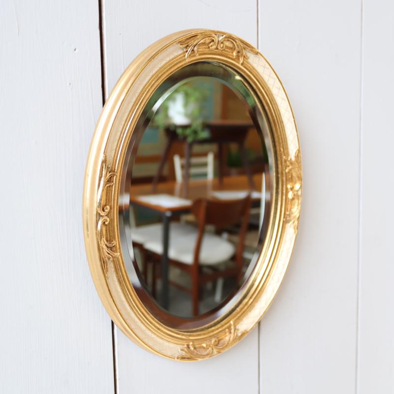 Vintage ovaal klein spiegel