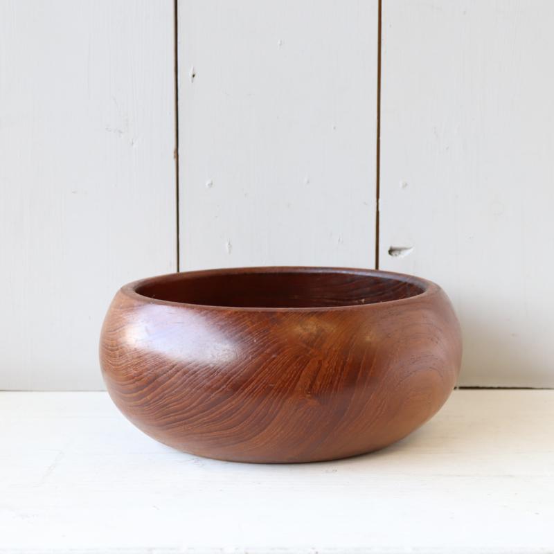 Vintage houten teak schaal