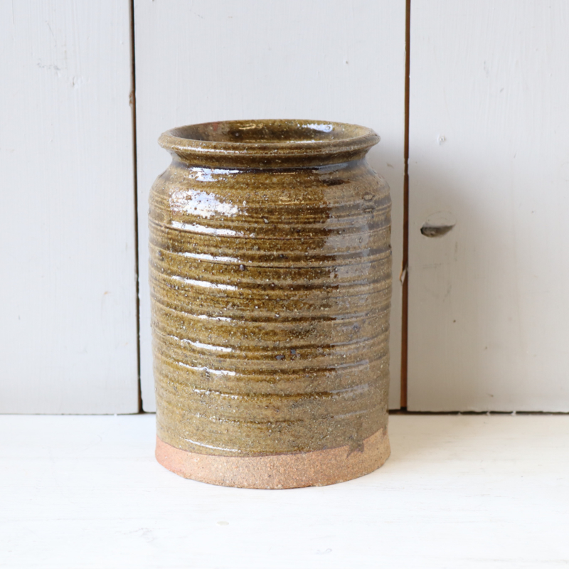 Vintage bloempot vaas pollepels