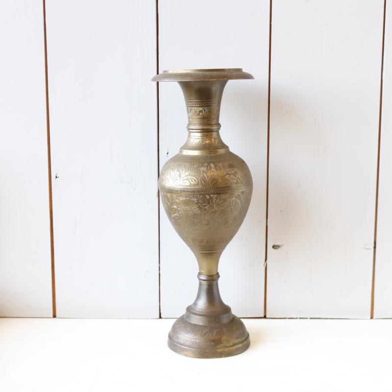 Vintage messing vaas groot