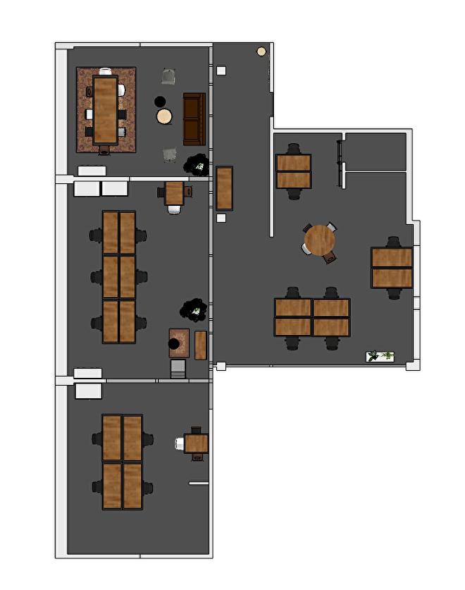 interieurplan kantoor Amsterdam
