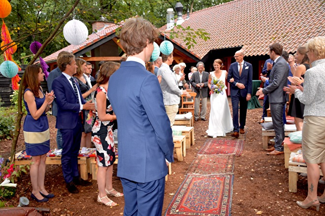 styling bohemian bruiloft ceremonie