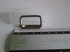 Metalen schuifgesp zilver / 25mm