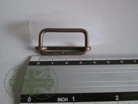 Metalen schuifgesp brons / 30mm