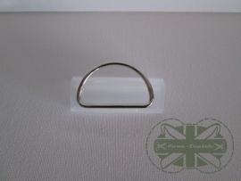 D-ring Nickelkleur 40mm *gesloten*