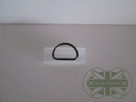 D-ring ZWART 30mm *gesloten*